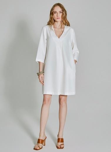 People By Fabrika Cepli Basic Elbise Beyaz